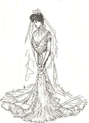 Wedding DRESS sewing PATTERN Victorian 16