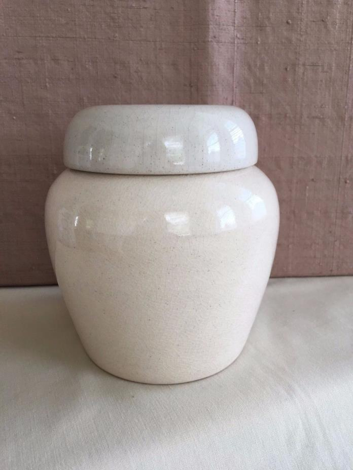 Vintage Rye Pottery England Covered Jar