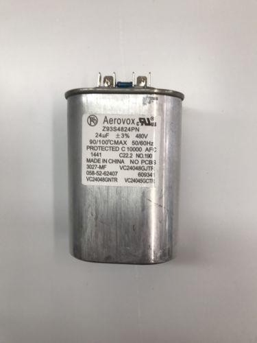 Capacitor 24uF 480V 50/60HZ Oil Filled by Aerovox NEW!