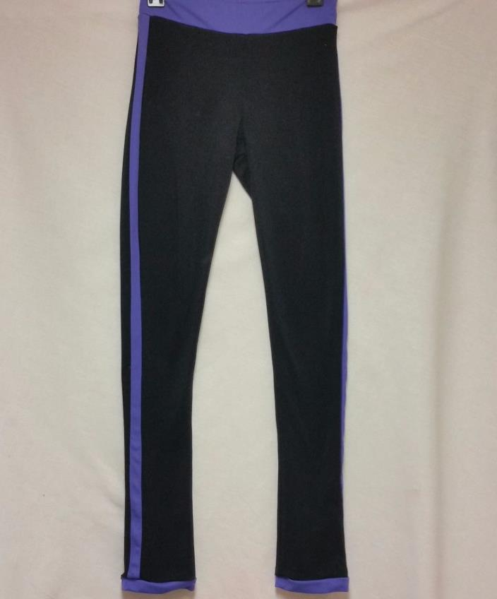 Black Chole Noel Skate Pants with Purple Stripe -Size Adult Medium