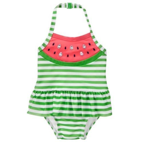 NWT Gymboree Girls Watermelon Swimsuit Toddler many sizes UPF 50+