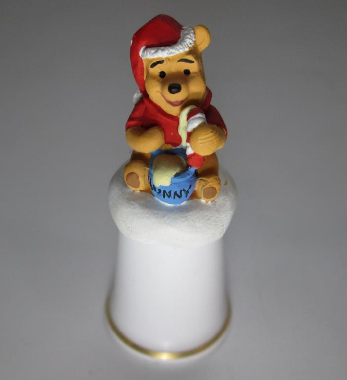 Disney Winnie The Pooh Christmas Thimble by Sterling Classic Made in England