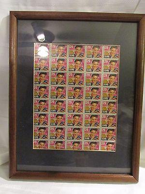 ELVIS PRESLEY UNCUT SHEET OF STAMPS FRAMED - 40 STAMPS EACH 29¢ - US POSTAGE