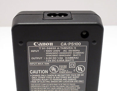 Genuine Canon CA-PS100 Charger ** WORKING ** A5 A50 S10 S20