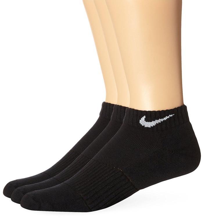 Nike Dri-FIT Low-Cut Training Socks.  3-Pair.  Black.  Large