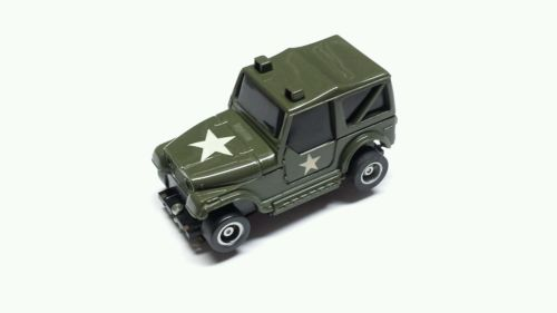 Tyco US-1 Electric Trucking Army Green CJ-7 Jeep In Great Condition Free S&H