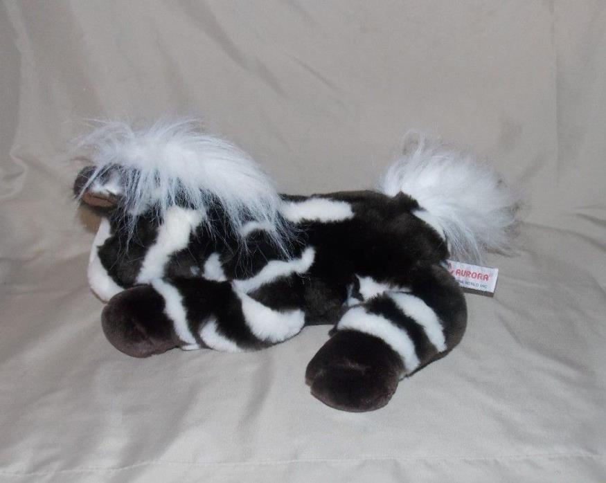 Aurora Brown White Painted Appaloosa Stuffed Plush Horse Pony 12