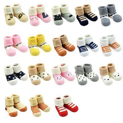 Baby Girl Boy Winter Warm Socks Cartoon Newborn Slipper Shoes Boots 0-12 Months