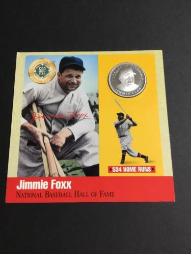 The Legends Of Baseball 500 Club 0.999 Silver Jimmie Fox