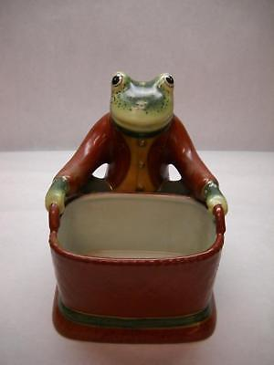 VINTAGE Ceramic Spotted FROG PLANTER Sitting RED BASKET Suit AMITA Rectangle