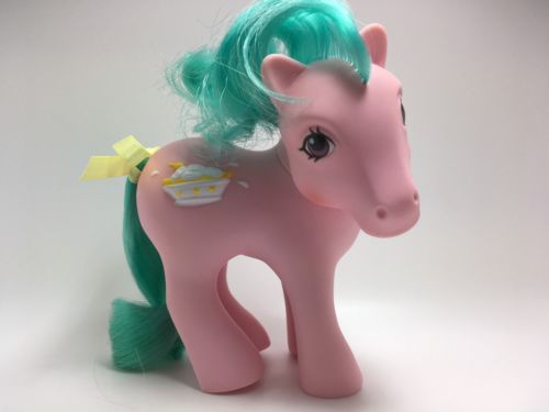 Vintage My Little Pony G-1 MLP ~ BANANA SURPRISE ~ SUNDAE BEST ~ Ice Cream Pony