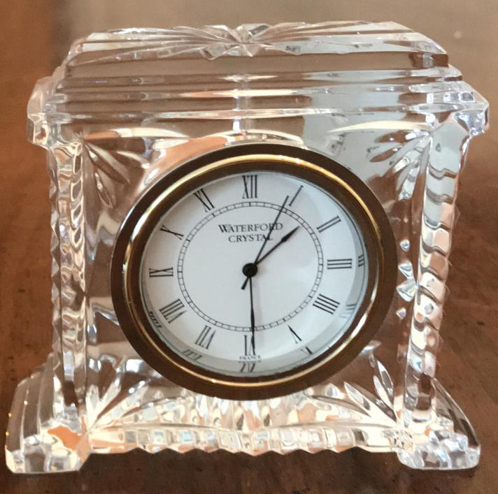 Waterford Pavillion Pattern  Crystal Clock Made In Ireland