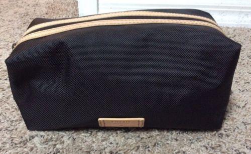 Fossil KENT zip travel kit in black