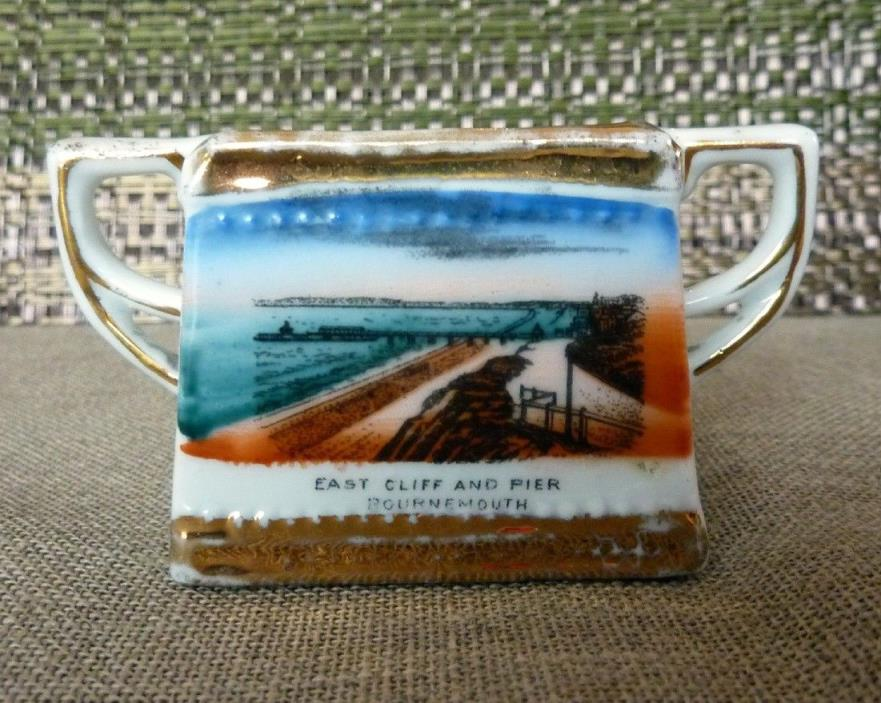 Vintage Souvenir East Cliff and Pier Bournemouth Toothpick Holder Match Stick