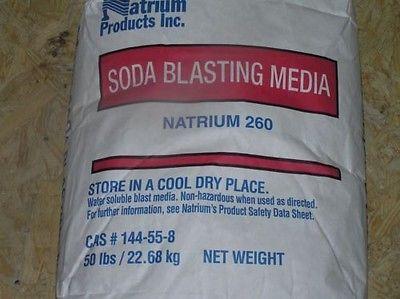 Natrium 260 Soda Blast Media Bag 50 lb/pounds 50# Blasting