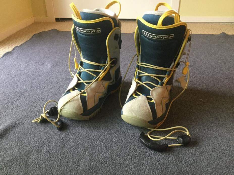 Salomon Kiana Women's Snowboard Boots, Size US 9, MP 26, EUR 41, Blue & Gray
