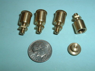 (4) Model Hit and Miss Gas or steam engine Brass oil Cups 8-36 mounting thread