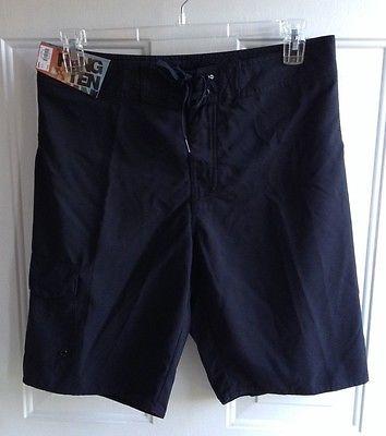 NWT Hang Ten Men's Black Board Shorts sz 32