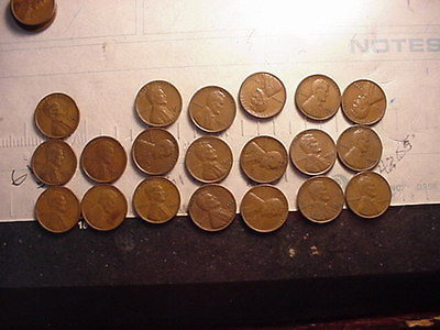 16 DIFFERENT LINCOLN WHEAT PENNIES ALL FROM 1930S ALL FINE OR BETTER           c