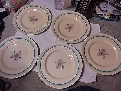 5 PLATES  - CLARICE CLIFF - 10 INCHES