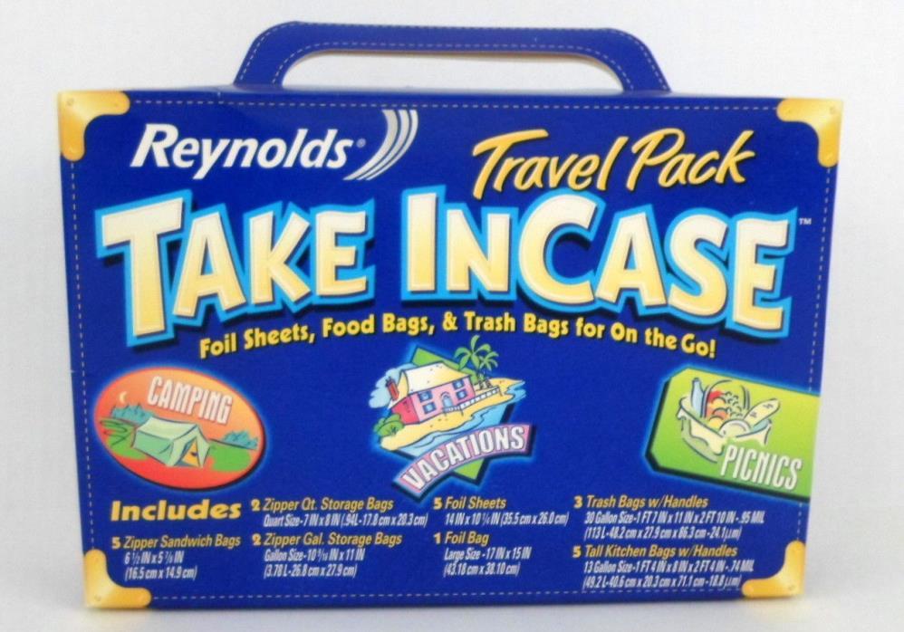 REYNOLDS WRAP Travel Pack Foil Sheets Food Storage & Trash Bags NEW