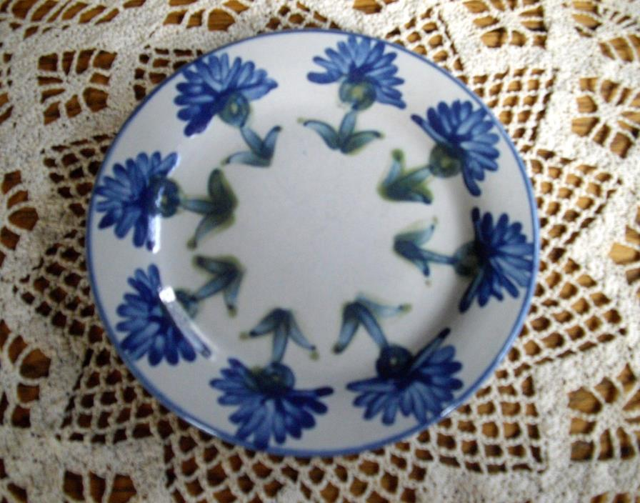 LOUISVILLE STONEWARE Gray w/ Blue Flowers 6