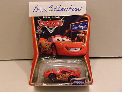 DISNEY PIXAR CARS BUG MOUTH McQUEEN SUPERCHARGED 1:55 RARE