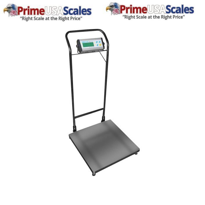 Adam Equipment CPWplus 35W Wheeled Floor Scale, 75lb/35kg Capacity, 0.02lb/10g