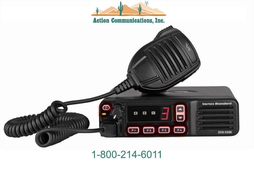 NEW VERTEX/STANDARD EVX-5300, UHF, 403-470 MHZ, 45 WATT, 8 CHANNEL MOBILE RADIO