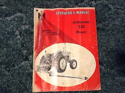 1083034R1 - is a New Original Operators Manual for an IH 230 mowers.