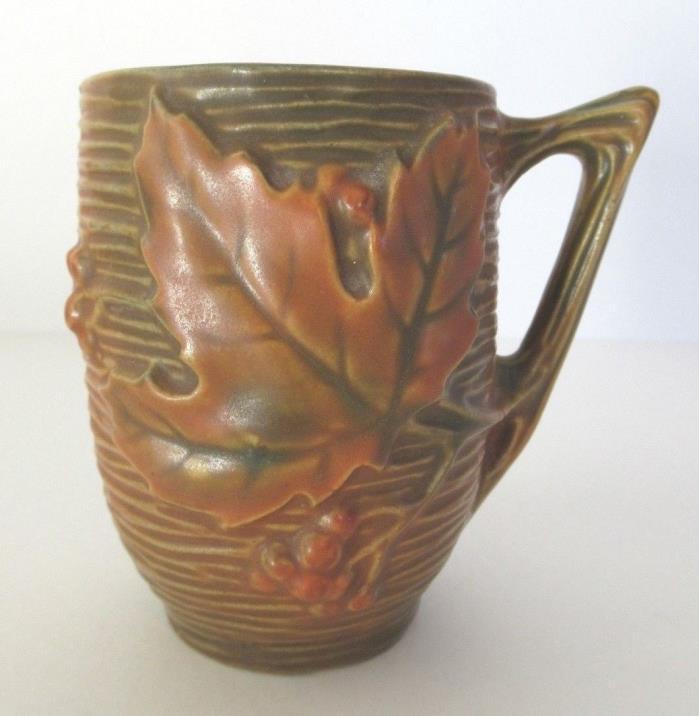 Roseville Bushberry Orange Mug / Vase 1-3 1/2