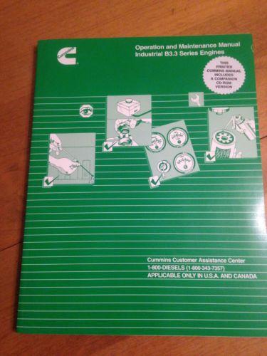 Cummins B3.3 series Engine Operation & Maintenance Manual with CD