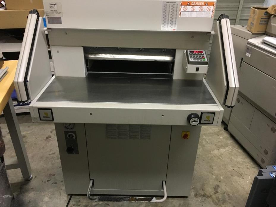 MBM Triumph 5551-EP  22 inch Hydraulic  Programmable Guillotine Cutter