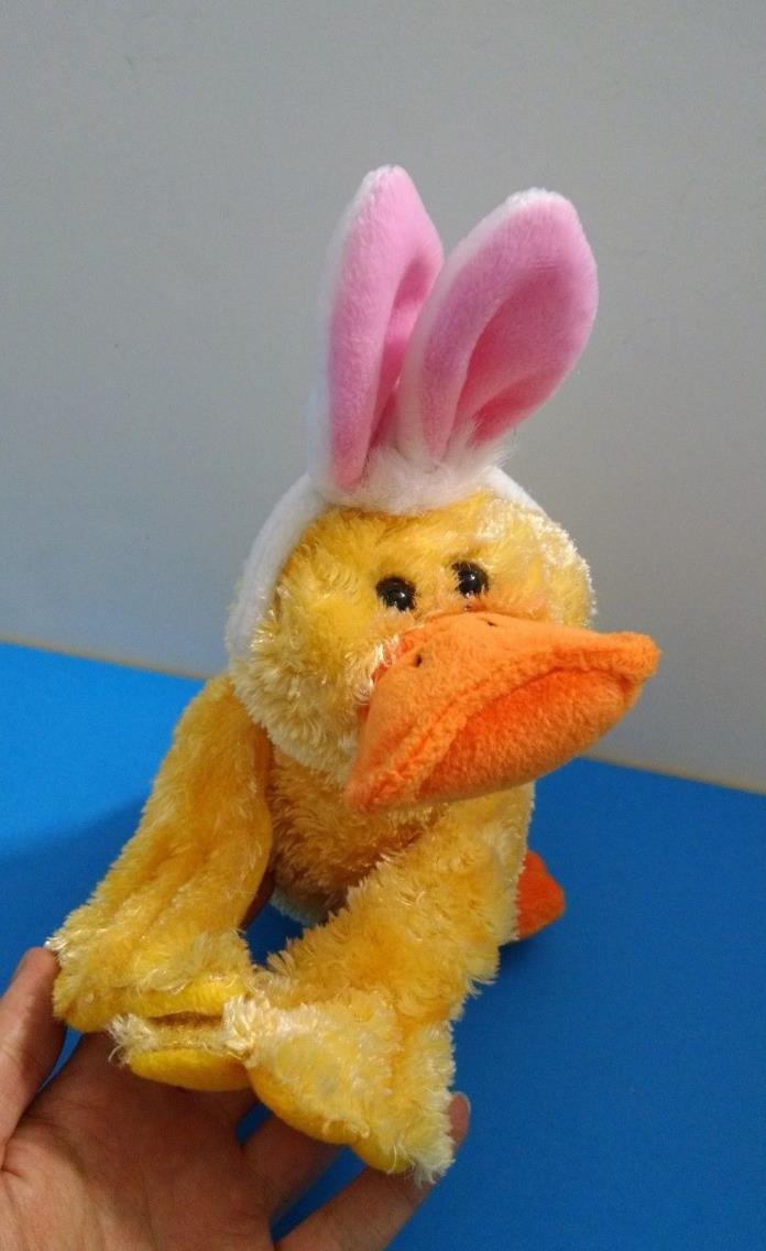 Dandee Laying Yellow Duck Easter Bunny Rabbit Ears 9