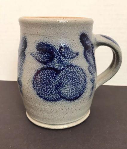 Rowe Pottery Mug Salt Glazed Pottery 1987 Rowe Pottery Tankard Stein