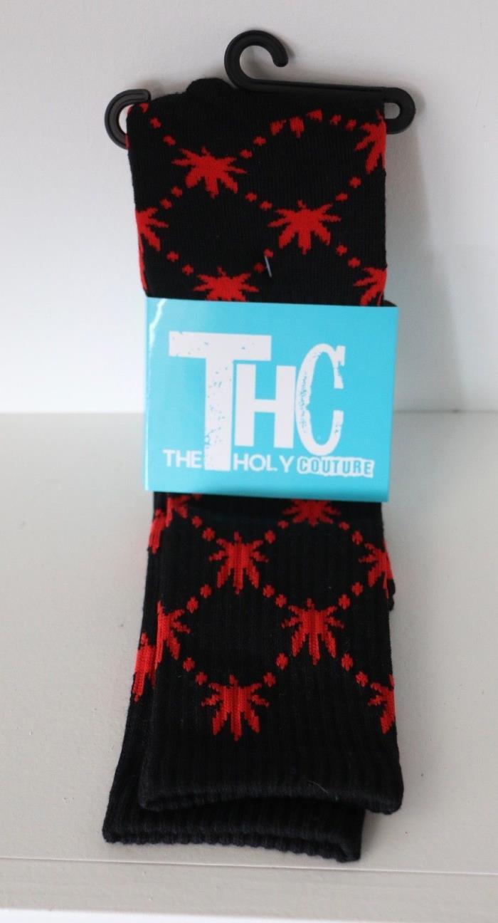 The Holy Couture THC Unisex Marijuana Weed Leaf Novelty Socks Ganja