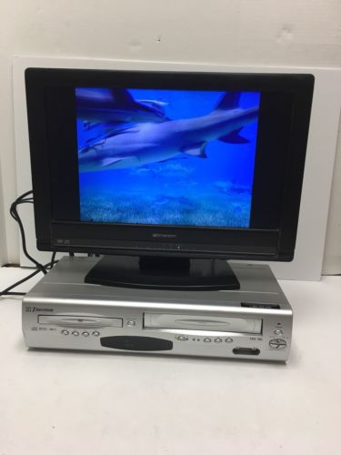 Emerson EWD2203 VCR VHS DVD CD MP3 HQ 4 Head Dolby Digital Combo Player Tested