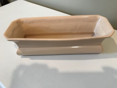 Vintage Abingdon Pottery Rectangular Peach Bulb Planter or Tray