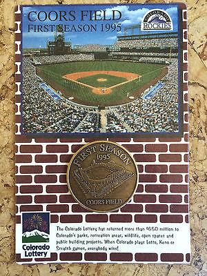 Original Coors Field Colorado Rockies Baseball 1st Season Commemorative Coin '95