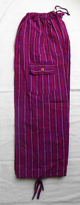 UNISEX Cusco Peru Cotton & Rayon Baggie Pants PJs Colorful 40 inch Waist #1067