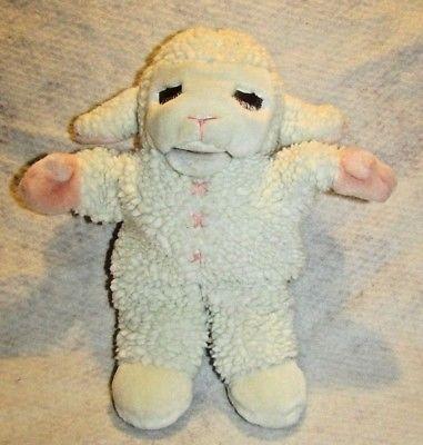 Vintage Baby Lamb chops Plush Hand Puppet