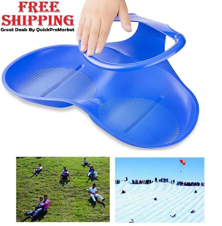 Kids Snow Sled Winter Outdoor Sports Skiing Board Toddlers Plastic Lightweight