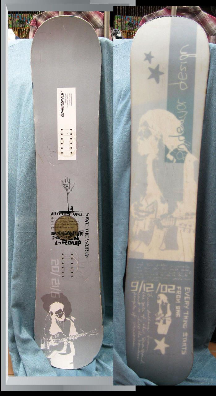 Endeavor Snowboard Artists Will 2004 Live Series Light Gray Color Design Message
