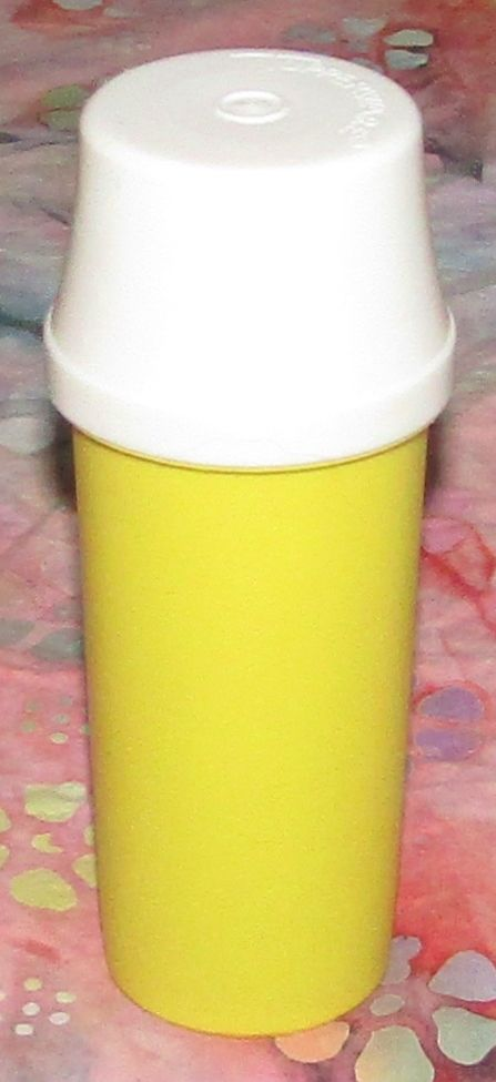 Vintage Tupperware Picnic Mustard Dispenser 1329-8 With Lid Excellent Clean Cond