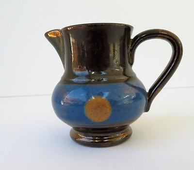 Vtg  Minature Staffordshire  England Copper Luster Pitcher  Allerton's Ltd ?