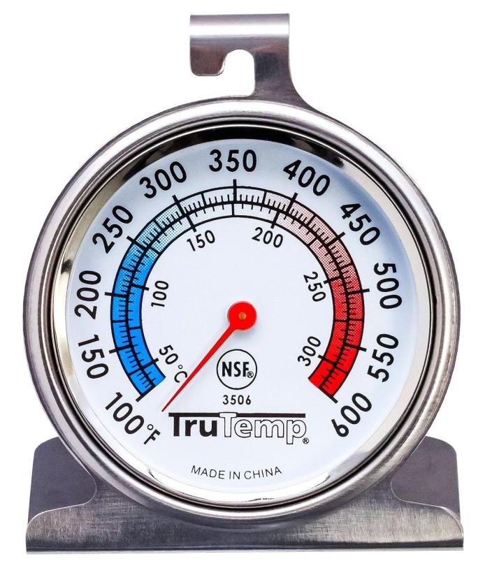 Stainless Steel OVEN THERMOMETER 100° to 600° hanging TruTemp 3506 by TAYLOR