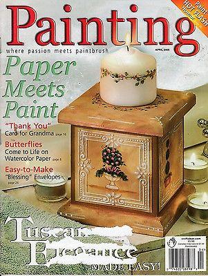 PAINTING MAGAZINE APRIL 2005 ~ PAPER MEETS PAINT