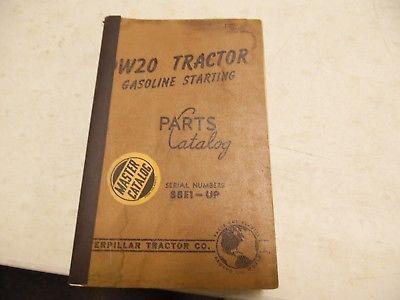 Caterpillar DW20 Tractor 88E1-up  Parts Manual