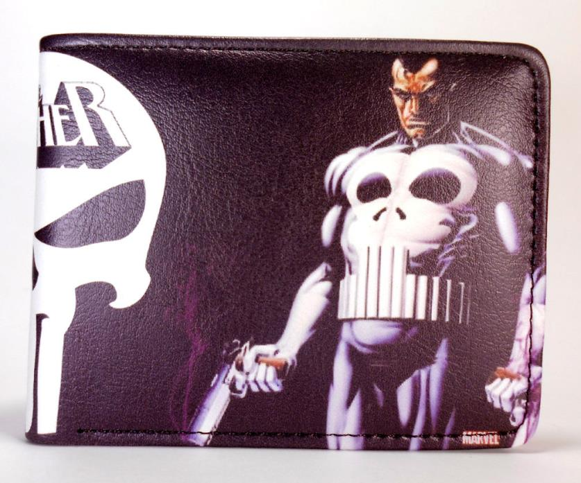 Punisher Marvel Comics bifold wallet Castle, Frank Daredevil  video game Mens