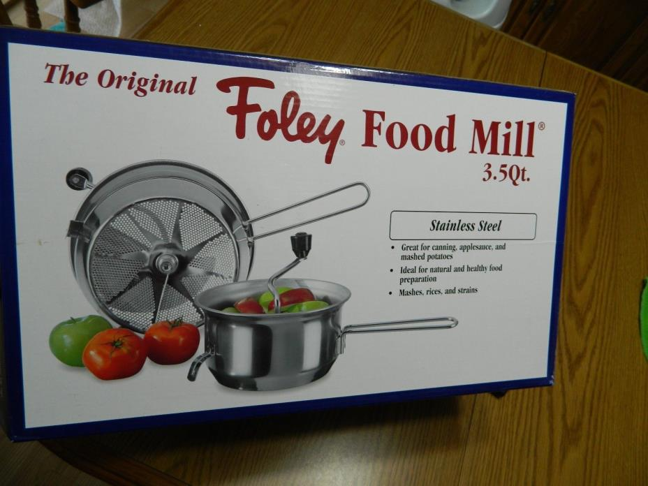 The Original Foley Food Mill 3.5 Qt. - Brand New